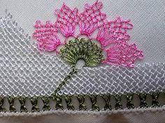 Havlu Kenarı Çiçek Oyası 6