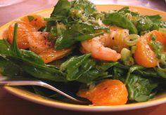 Cold Shrimp Sald with Orange Viniagrette