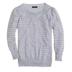 34f90b52e39a0 NWOT J.Crew (Retail) Striped Sweater NWOT light gray striped sweater from J