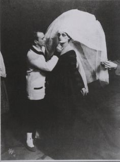 VASLAV NIJINSKI applying make up to an artist, 1916, Till Eulenspiegel: Set Design , Ballets Russes | The Red List
