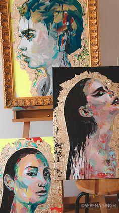 #SerenaSingh #Art #Artist #Basel #Switzerland #Neoncolors #Portrait #Painting #Modernart #colorful