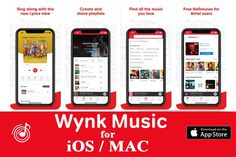 Wynk Music for iOS/ MAC Free Download Wynk Music #Wynk #Music #Player #iOS Wynk Music, Music App, Latest Songs List, Non Stop Music, New Lyrics, Latest Ios, Trending Songs, Song List, Internet Radio