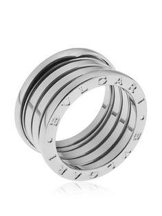 bulgari womenu0027s 18k white gold 4band ring