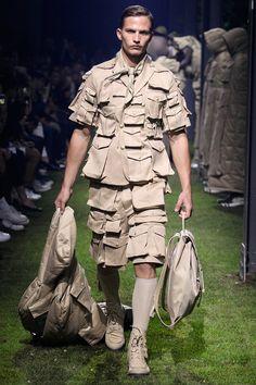Moncler Gamme Bleu showed its Spring/Summer 2017 collection during Milan Fashion Week.