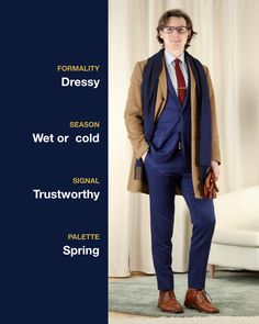 Suiting up in cold weather ❄️😍 colors: navy, light blue, and burgundy Dressy Outfits, Spring Colors, Sustainable Fashion, Cold Weather, Winter Fashion, Light Blue, Burgundy, Menswear, Mens Fashion