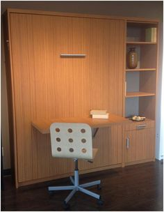 Maximize your space with a table on the front of your Murphy Bed.