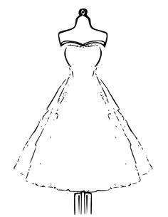 Dessin de robe de soir e a imprimer - Dessin de robe de princesse ...