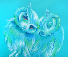'Lovey Owls' by Erin Garey  Possible mother/daughter tattoo?