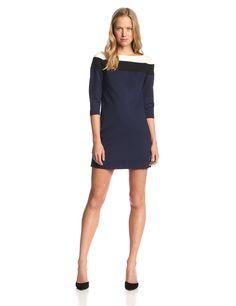 Dixon Color-Block Ponte Dress by Trina Turk