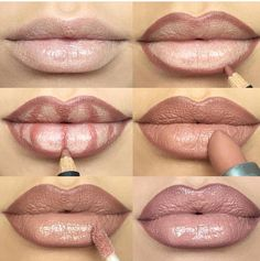 Lip Contouring   How To Make Your Lips Appear Fuller   Step by Step:  MAC  SPICE LIPLINER   MAC  HONEYLOVE LIPSTICK    MAC OYSTER GIRL LIPGLASS