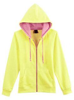Yellow Collision Energy Zipper Cardigan Sweatshirt$49.00