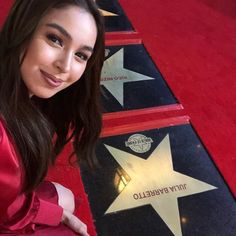 "#JuliaBarretto with her name labeled in the recent German Moreno's ""Walk of Fame"" at the Eastwood Central Plaza, Libis, QC. She has her great contribution when it comes to her effort on acting that makes her industry more expandable and brighter. We're always be you side, Julia! 