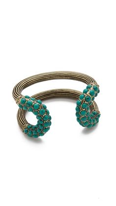 Giles & Brother Encrusted Cortina Cuff... I♥Turquoise