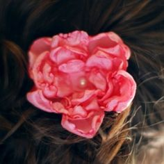 How to make lovely fabric flowers - simple to create and delightful to wear!