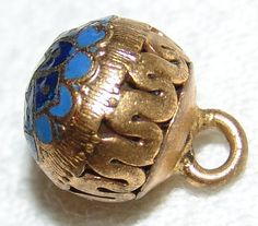 Spectacular Antique Ball Button  Gilt Brass by YesterYearsFindings