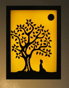 painting of buddha under the bodhi tree - Google Search