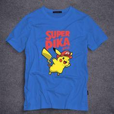 fc15b6c4 Pocket Monster characters Pokemon Pikachu printed Men T Shirt Funny Tees  Design Short Sleeve T-