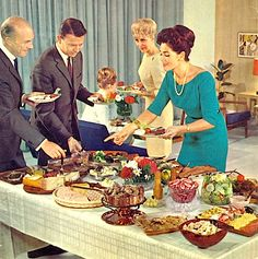 1000 images about retro dinner party food on pinterest for Buffet cuisine 1950