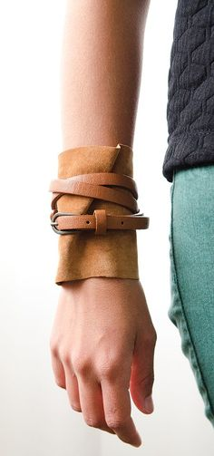 Learn how to make this trendy loose suede cuff in the latest issue of GreenCraft. There's no need to spend a small fortune on the newest fashion trends, especially when you can upcycle materials into your own unique creations!