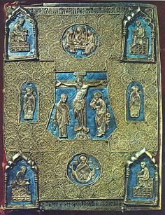 "Cover ""Christ Gospel."" 1448. Silver, casting, stamping, engraving, filigree, niello, Russian woodcut, XVII-XVIII centuries."