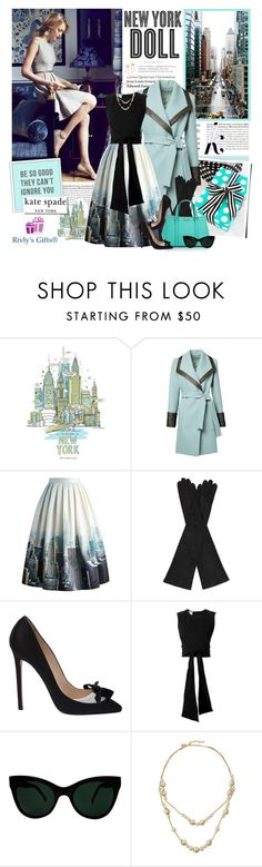 """""""Kate Spade - Be so good they can't ignore you"""" by violetta-valery ❤ liked on Polyvore featuring Tiffany & Co., Magma, Chicwish, AGNELLE, Christian Louboutin, Oscar de la Renta, KamaliKulture, KAROLINA, Kate Spade and Hemingway"""