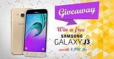 Win* a FREE Samsung Galaxy J3 worth Rs. 8,990/-