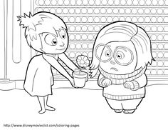 Disney's Inside Out Coloring Pages Sheet, Free Disney Printable Inside Out Color Page
