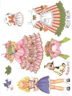 Muñeca recortable con su vestuario (Judy)