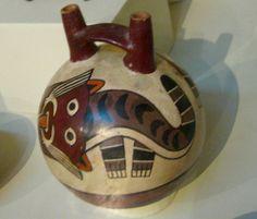 Cat Bottle (c.200 B.C.-400 A.D.) ceramic, Nazca, Perú