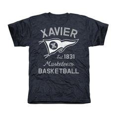 74097017fb84 Xavier Musketeers Pennant Sport Tri-Blend T-Shirt - Navy Blue Wyoming  Cowboys,