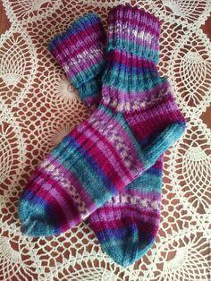 Купить Носочки женские - комбинированный, носочки, носочки вязаные, женские носочки, теплые носочки