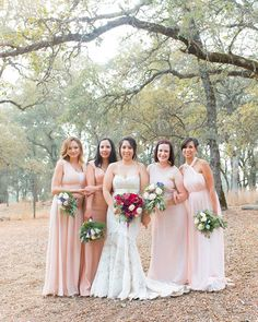 """""""I love when the bridesmaids' dresses are all different, but in the same color scheme. Plus, these colors Ixchel chose are gorgeous!  Shot as associate photographer for @indisoulphoto"""" by @_kellymariephotography. #невеста #prewedding #brides #engagement #свадебноеплатье #vestidodenoiva #couture #gelinlik #gown #weddinghair #casamento #bridesmaids #marriage #noiva #stylemepretty #junebugweddings #shesaidyes #groom #bride #weddingphotographer #weddings #engaged #свадьба #weddingparty #theknot…"""