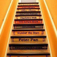 Have spent many an hour reading on the stars ... and reading THESE stairs :-)      From facebook.com/JulieOrtolon