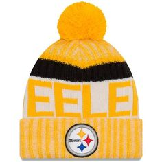 Pittsburgh Steelers New Season Sports Beanie Cuffed Winter Knit Cap Cold  Weather c26adc0ac5d8