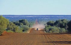 Driving across the Australian Outback. Do not attempt this if you are not prepared. Best to travel with other vehicles just in case you strike car trouble. Very easy to die out here because there is nothing but dust and heat. Outback Australia, Visit Australia, Western Australia, Australia Travel Guide, Camping Uk, Best Places To Camp, On The Road Again, Just In Case, Scenery