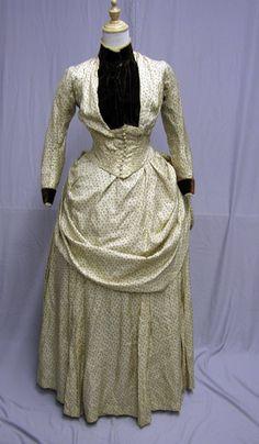 1880's silk daytime gown.
