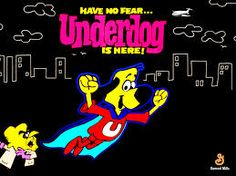 Underdog is an animated television series that debuted October 3, 1964, on the NBC network and continued in syndication until 1973. It was produced by Total Television. The first 26 syndicated episodes feature Tennessee Tuxedo as a supporting segment. Underdog, Shoeshine Boy's heroic alter ego, appears whenever love interest Sweet Polly Purebred is being victimized by such villains as Simon Bar Sinister or Riff Raff.