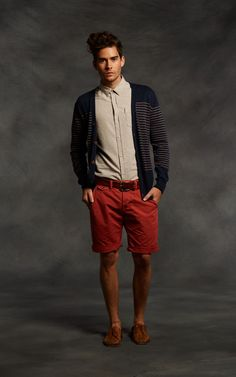#MensWear Friday!! I love the mix of casual in the shorts and class with the button up! #Men #Shorts