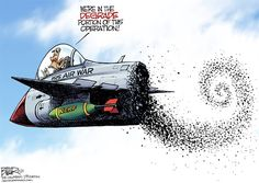 Bombs Over ISIS © Nate Beeler,The Columbus Dispatch 5/21/15