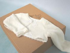 Baby Christening Bolero with Lining Linen Baptism Bolero Baby Girl Christening Outfit, Christening Gowns, Silk Romper, Romper With Skirt, Baby Girl Cardigans, Baby Warmer, Girls Accessories, To My Daughter, Baby Girls