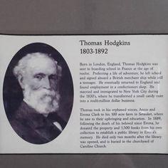 Thomas Hodgkins, founder of Emma S. Clark Memorial Library