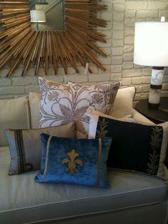 Nancy Price pillow selection antique trim