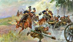 Jerzy Kossak - Battle of Somosierra Military Diorama, Military Art, Military History, Military Uniforms, Poland History, Expressive Art, Napoleonic Wars, Prehistory, Horse Art