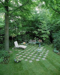 Attractive Backyard Garden Landscaping Design Ideas For Small Garden 25 Small Backyard Landscaping, Landscaping Tips, Backyard Patio, Backyard Ideas, Backyard Shade, Wooded Backyard Landscape, Backyard Layout, Patio Ideas, Backyard Projects