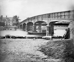 Poster Print-Hampton Court Bridge in 1875 poster sized print mm) made in the UK Richmond Upon Thames, London Boroughs, Hampton Court, River Thames, Photographic Prints, London England, Poster Size Prints, Old Photos, London