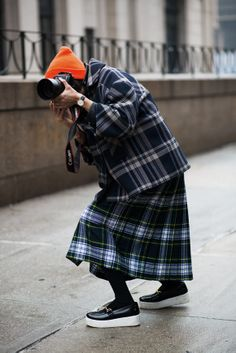 all the pretty photographers... plaid on plaid in NYC. #TheLocals