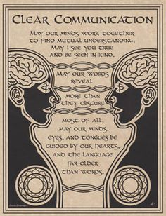 PRAYER FOR CLEAR COMMUNICATION POSTER A4 SIZE Wicca Pagan Witch BOOK OF SHADOWS picclick.com