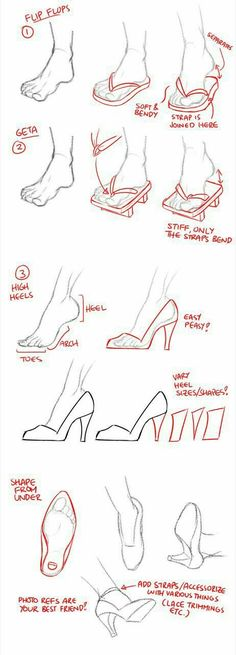 Manga Drawing Tips Feet, shoes, text; How to Draw Manga/Anime by candace Drawing Skills, Drawing Techniques, Drawing Tips, Drawing Reference, Drawing Sketches, Art Drawings, Sketching, Design Reference, Manga Drawing Tutorials