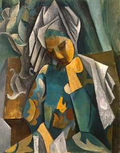 Queen Isabella Pablo Picasso Date: 1908 Style: Cubism Period: African Period Genre: portrait Media: oil, canvas Location: Pushkin Museum of Fine Art, Moscow, Russia Pablo Picasso, Art Picasso, Picasso Paintings, Picasso Style, Artwork Paintings, Georges Braque, Cubist Movement, Inspiration Art, Art Moderne