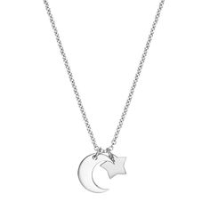 The Silver Moon and Stars Pendant